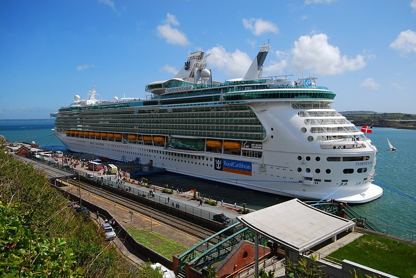 Currently, one of the  largest passenger ships in the world - INDEPENDENCE OF THE SEAS - displacement of 154.407 GT, 3640 passengers launched in 2008.