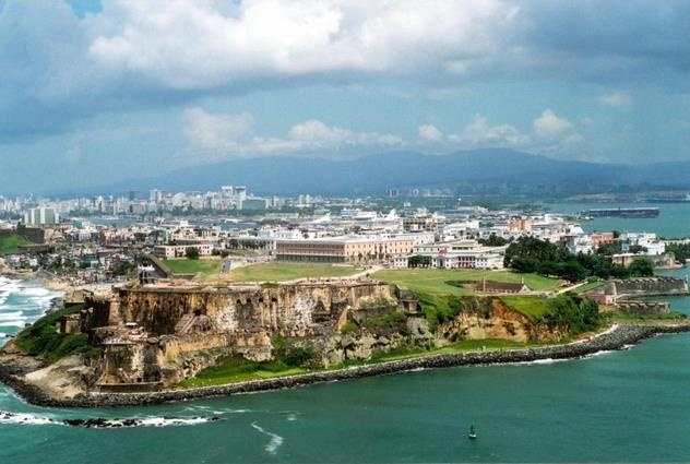 ONE OF THE MAIN CRUISES - SAN JUAN, CAPITAL OF PUERTO RICO. THE LARGEST HISTORIC FORT AND OLD TOWN AT CARIBBEAN