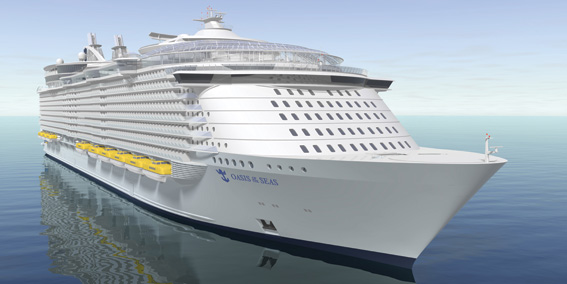LAUNCHED IN NOVEMBER 2009 ONE OF THE LARGEST CRUISE SHIP - OASIS OF THE SEAS 222,000 GT, 5400 PASSENGERS