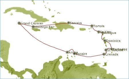 TYPICAL AND MOST POPULAR PLACES VISITED IN THE CARIBBEAN DURING CRUISES
